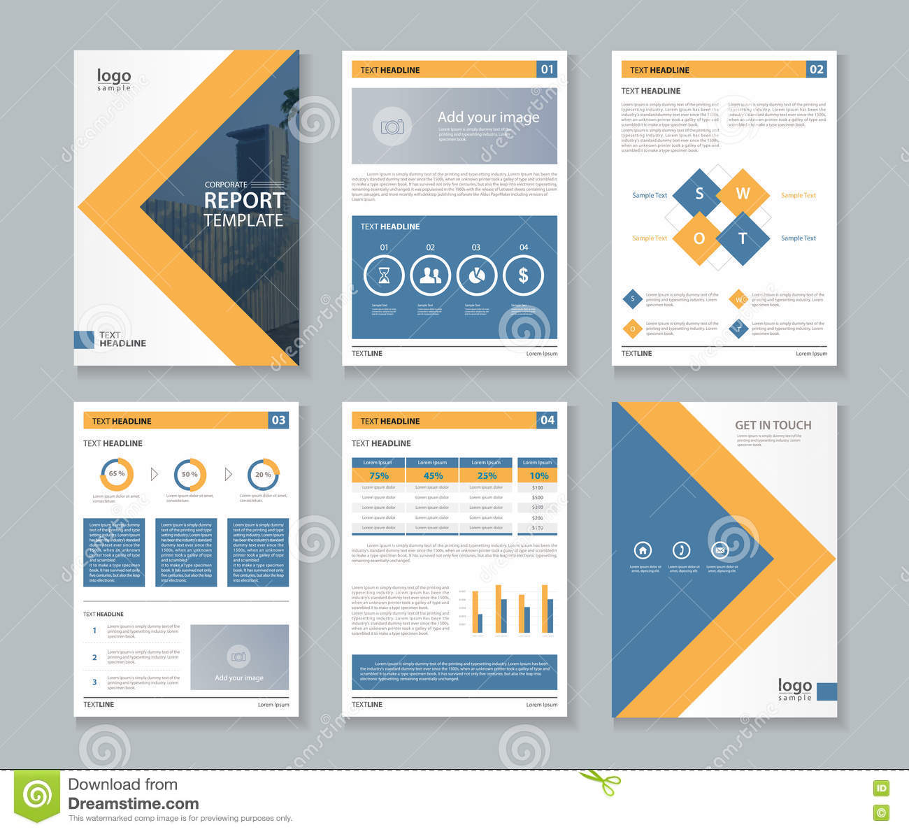 Business Company Profile Report And Brochure Layout Template Stock ...