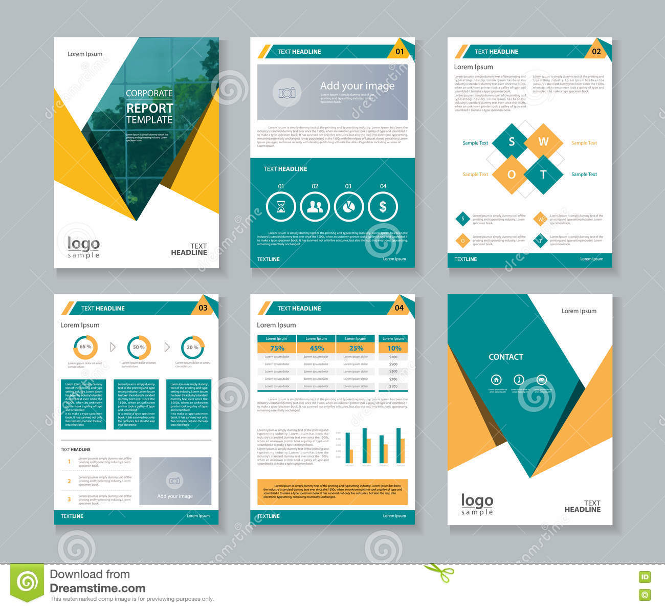 Free company profiles template idealstalist business company profile report and brochure layout template stock accmission