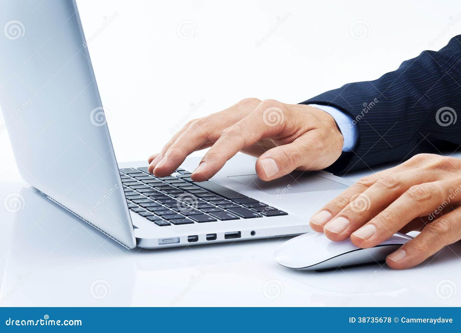 business computer hands marketing business computer