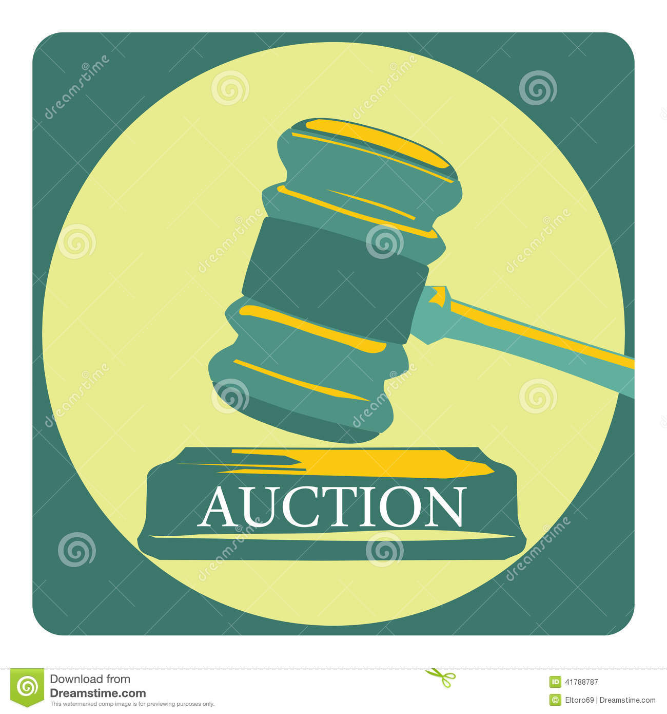 Business concept with auction sign stock vector image 41788787 - Custom signs for home decor concept ...