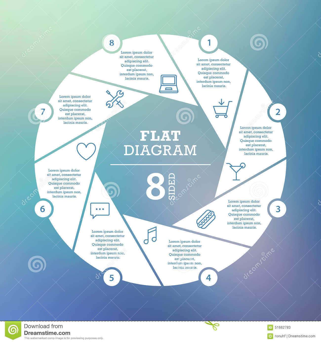 Business Concept  Circle Puzzle Infographic  Template For