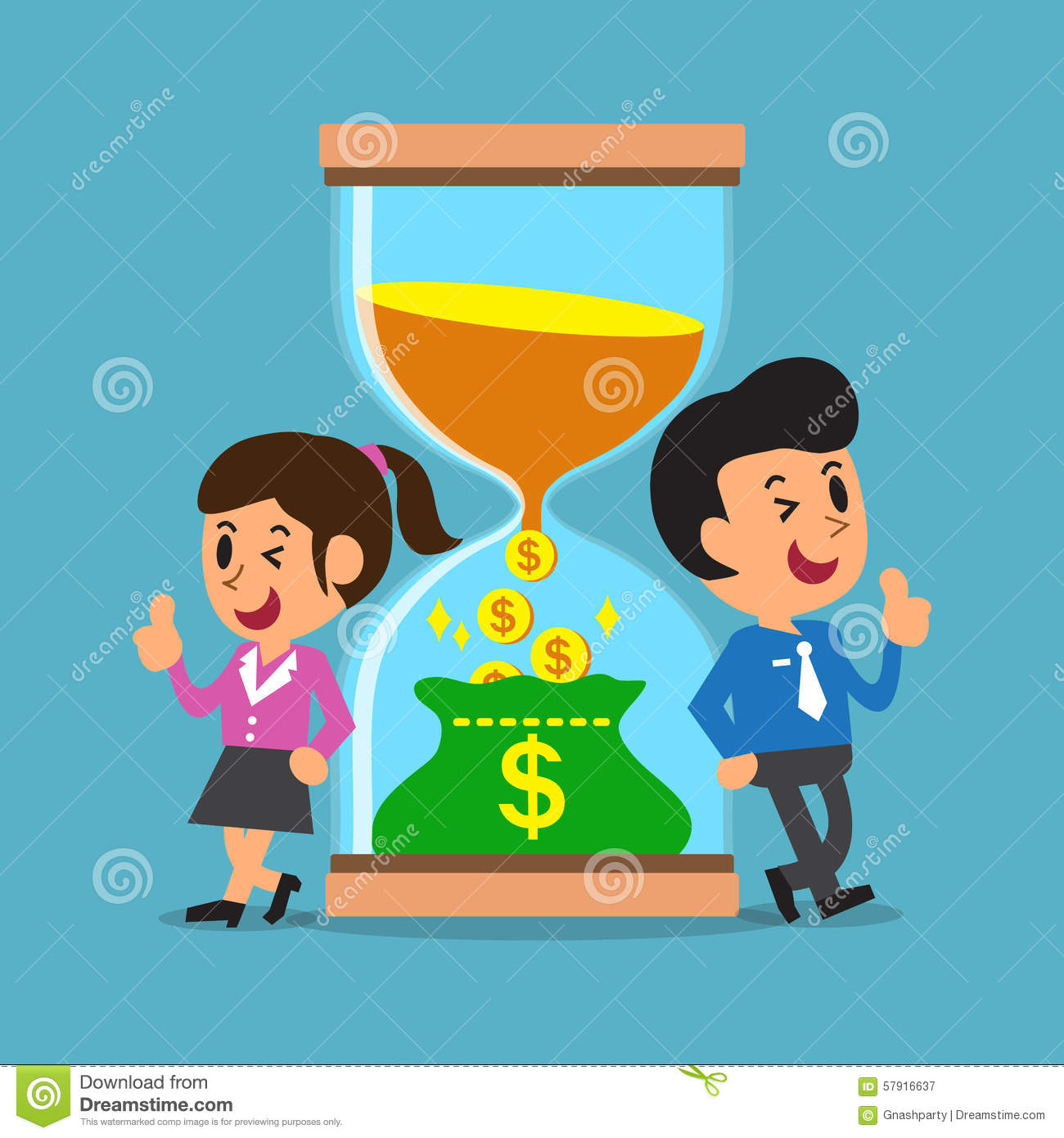 Business concept convert time to money with business for Convert image to blueprint online