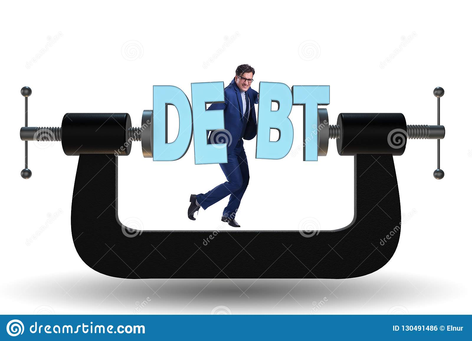 The Business Concept Of Debt And Borrowing Stock Photo