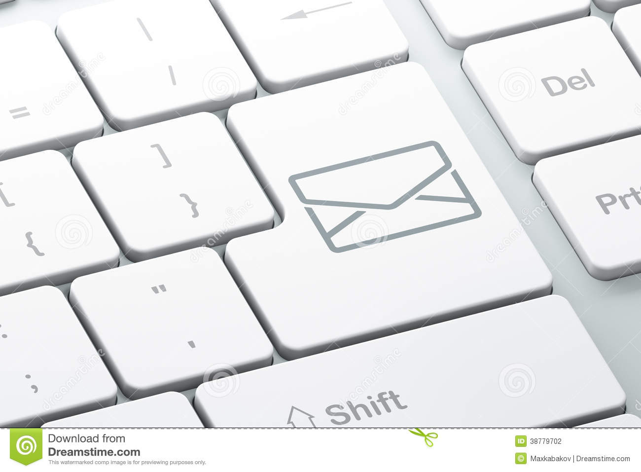 Email background image - Business Concept Email On Computer Keyboard Background Stock Photo
