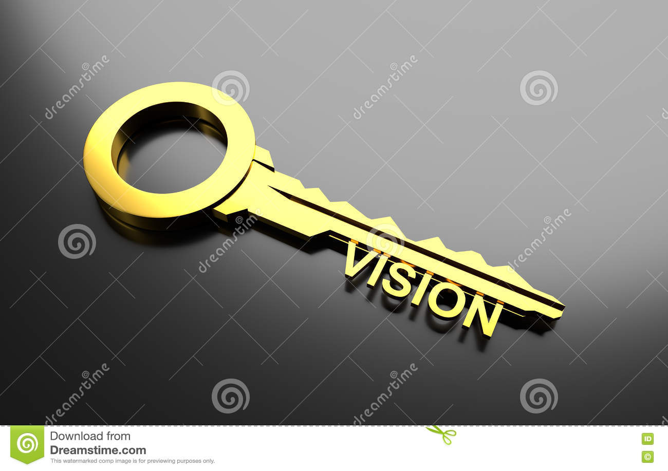 With golden key 3d rendering plan concept with golden key 3d rendering - Business Concept Golden Key With Word Vision 3d Illustration Stock Illustration Image 77838832