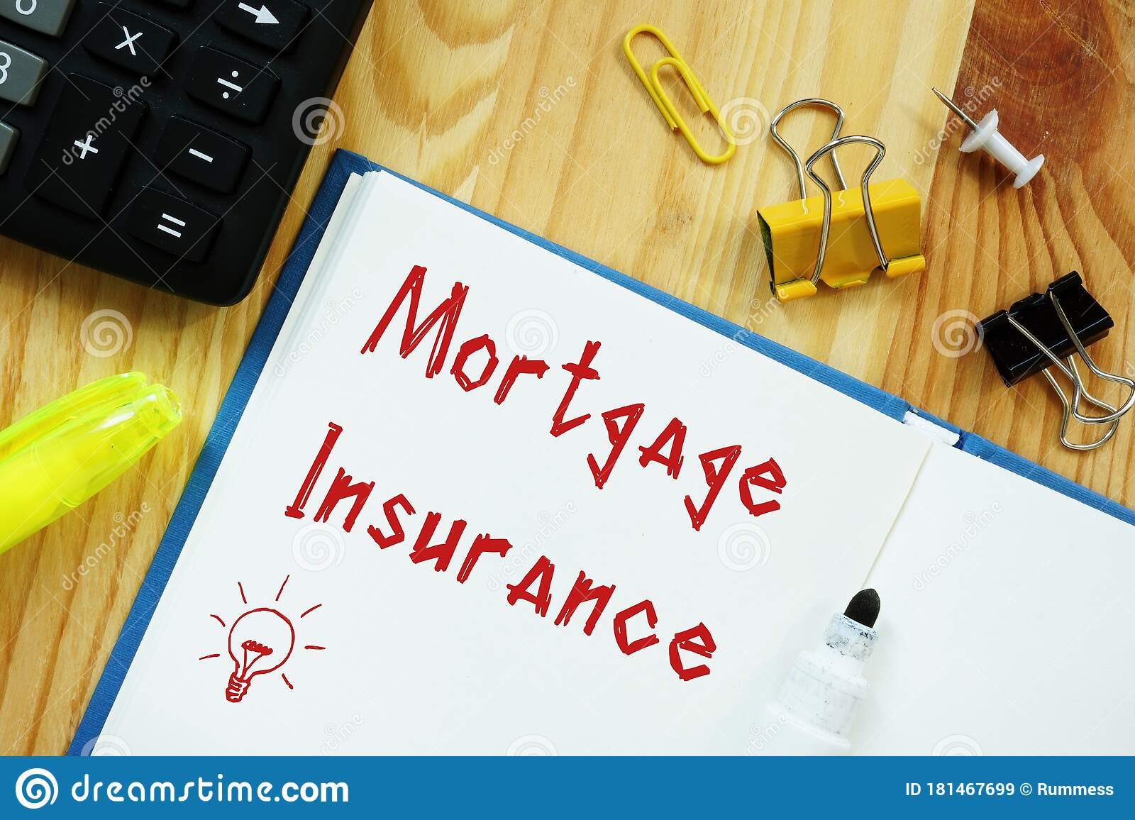 Business Concept Meaning Mortgage Insurance With Phrase ...