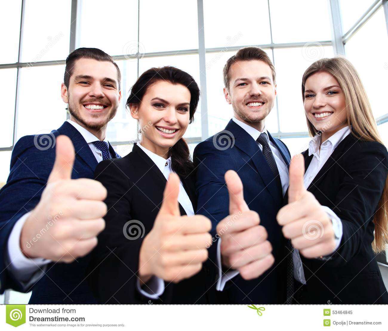 Business concept - successful young business people
