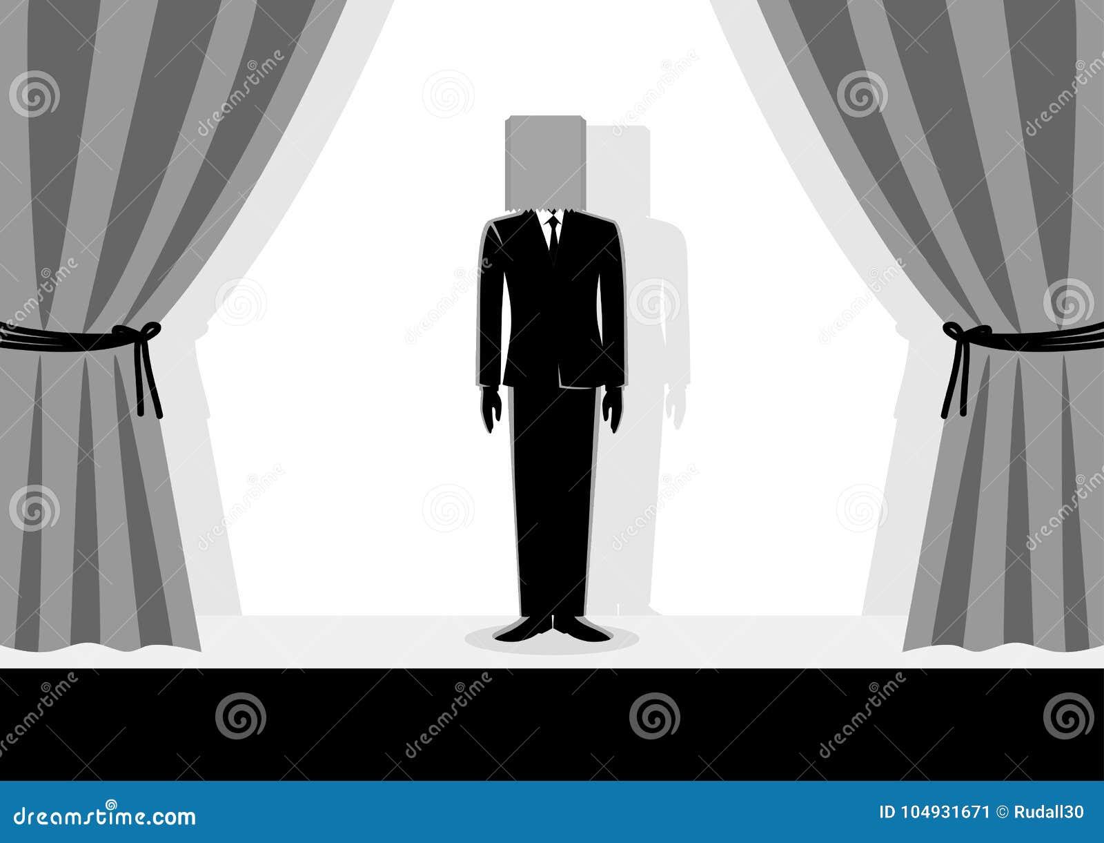 Paper Bag Head Businessman