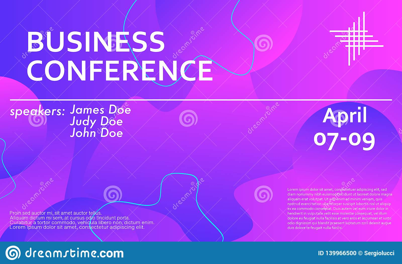 Business Conference Invitation Design Template Stock Vector