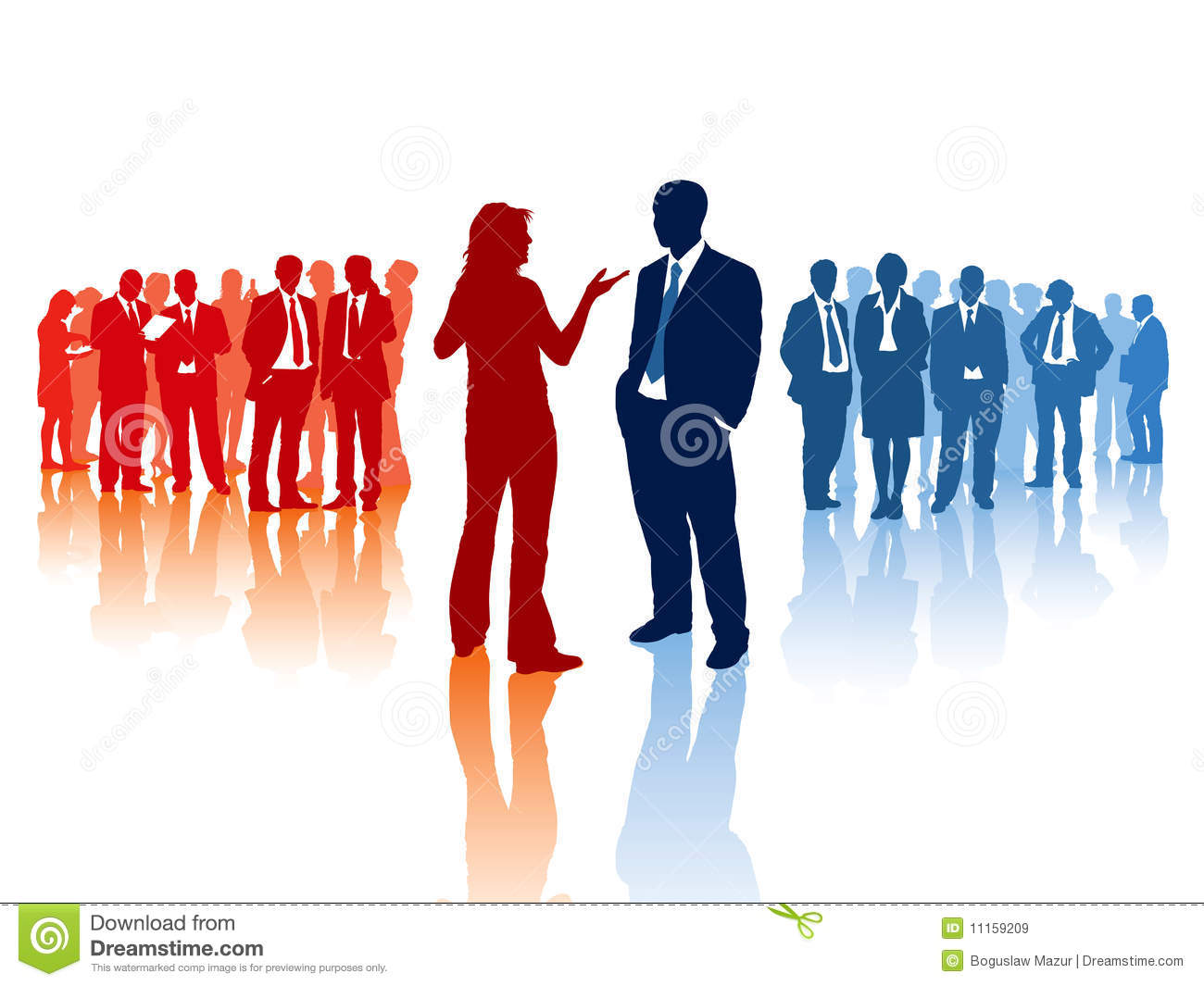 business confrontation stock vector illustration of business 11159209