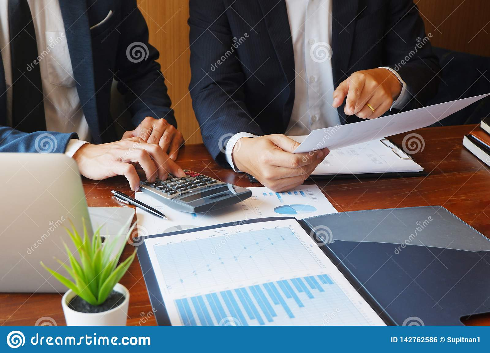 Business consulting businessman meeting brainstorming report project analyze