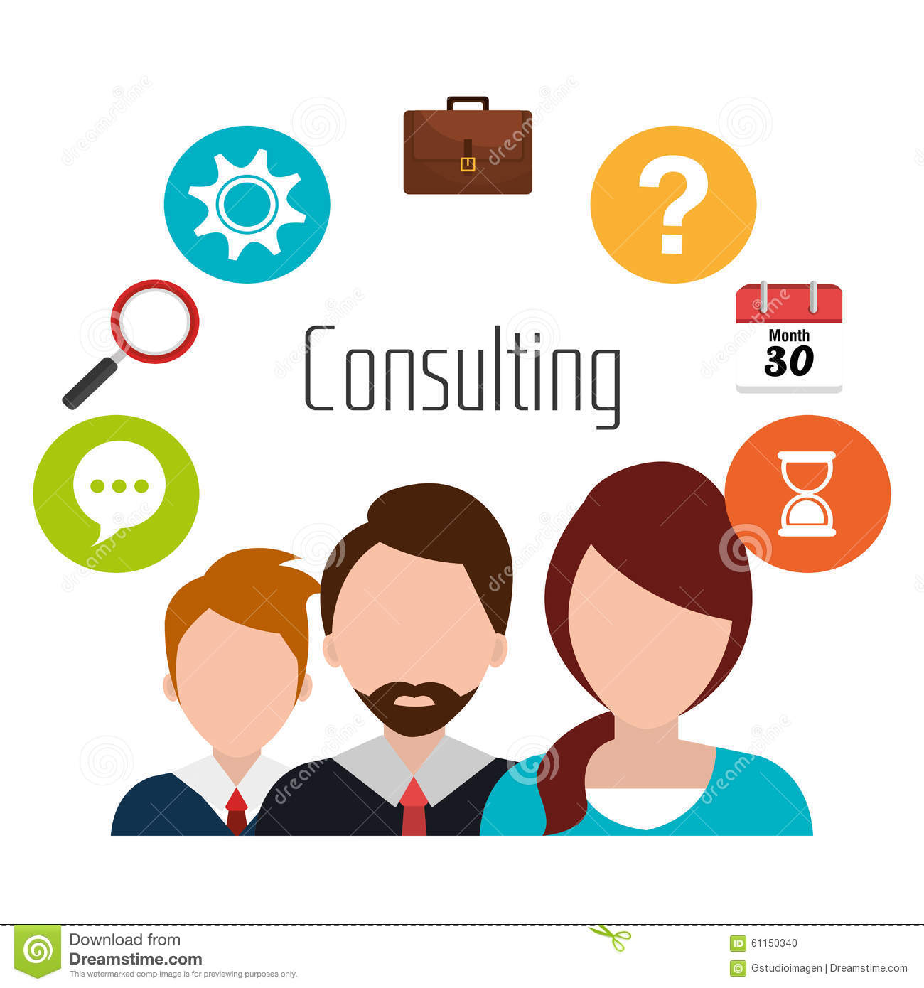 Business consulting design stock vector image 61150340 for Graphic design consultant