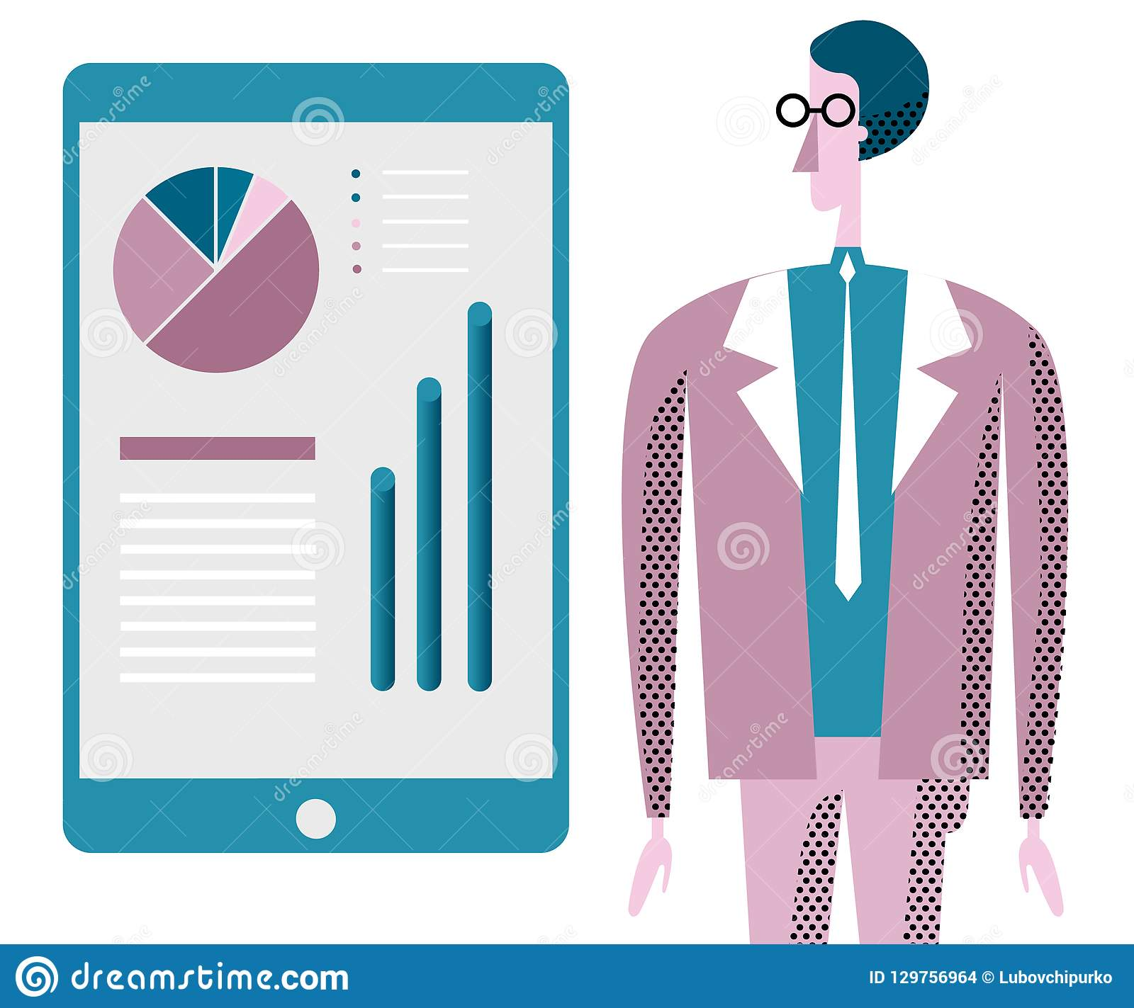 Business Consulting Illustration. Office Worker And ...