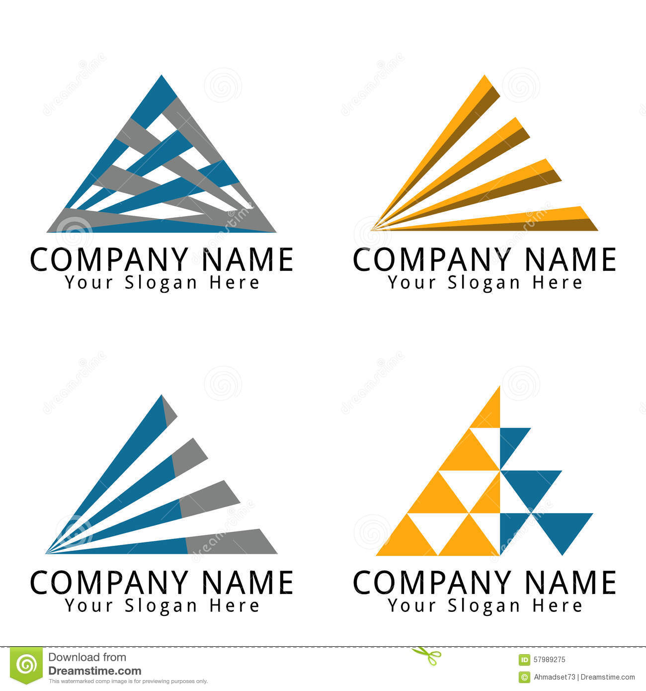 Royalty free stock photo business and consulting logo for Triangle concept architecture