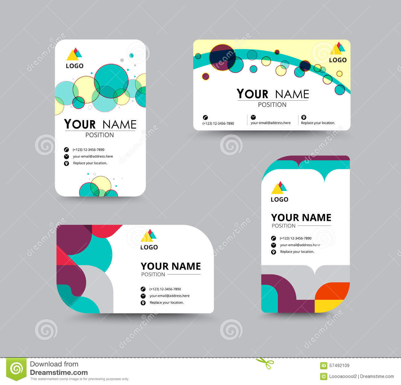 business contact card template design vector stock stock vector image 57492109. Black Bedroom Furniture Sets. Home Design Ideas