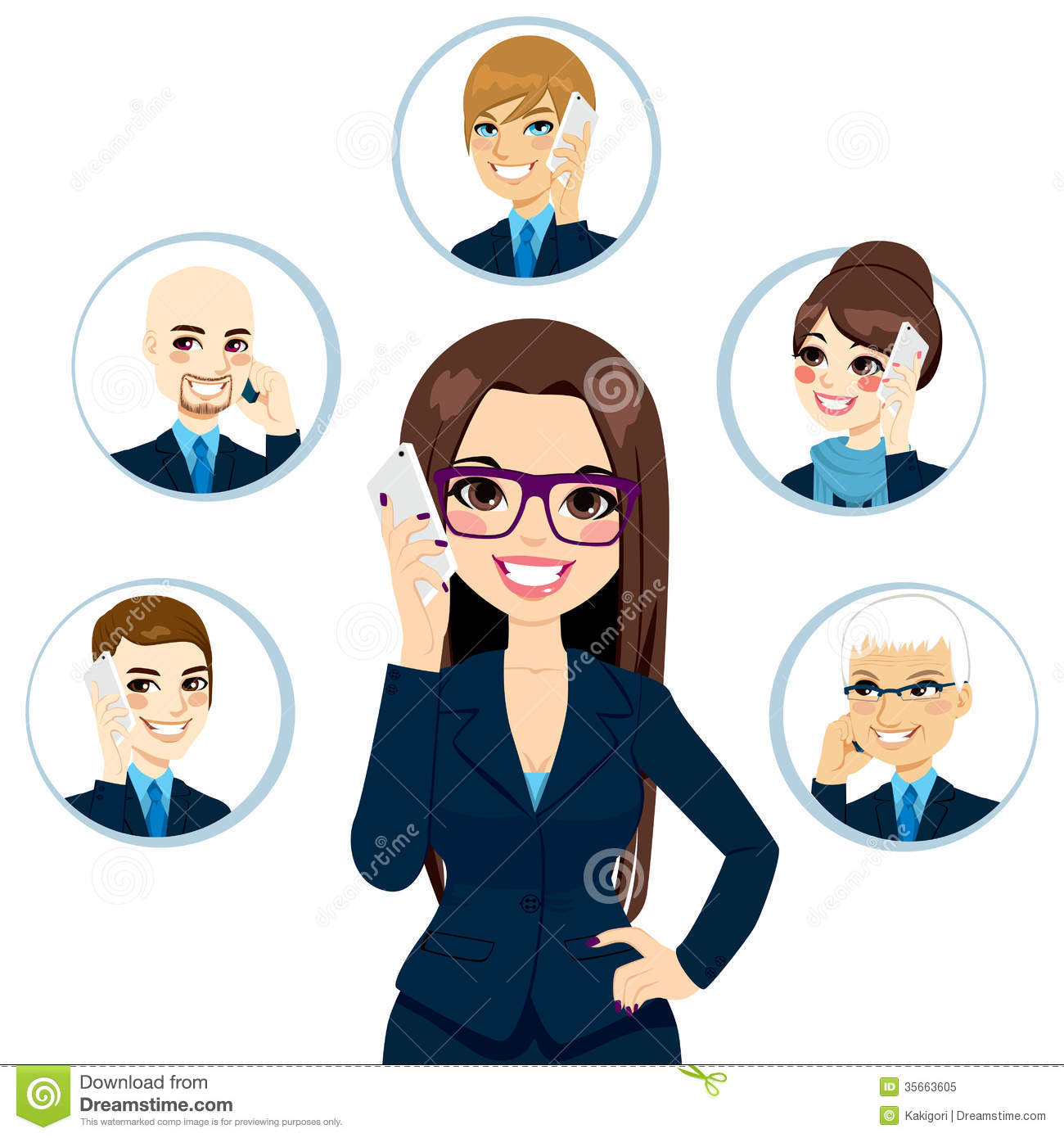 Business Contact: Business Contacts Concept Royalty Free Stock Photo