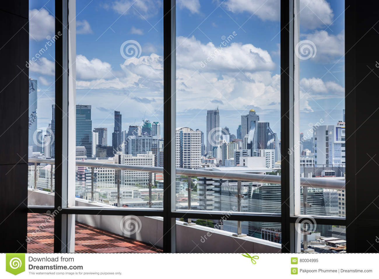 Download Business Contemporary Meeting Room Office Working Concept With Frame Window And City Background Stock Image