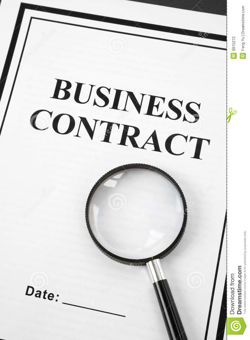Business Contract Photography Image 9915272 – Business Contract