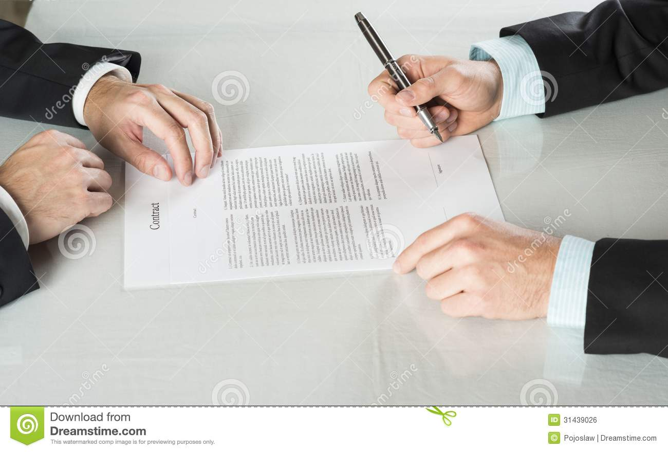 Business Contract Royalty Free Stock Image Image