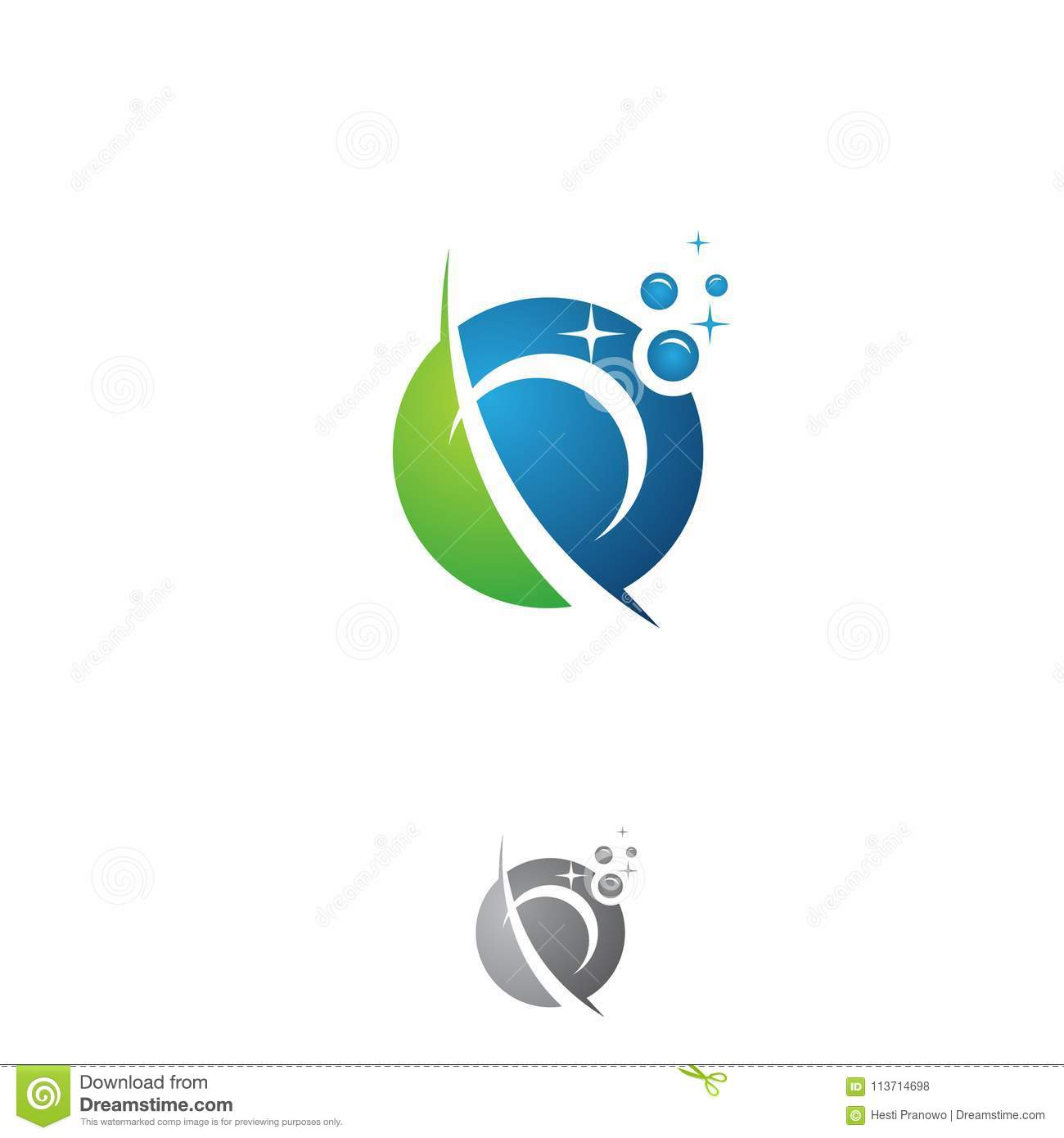 Business Corporate Letter P Washing Round Concept Design Stock