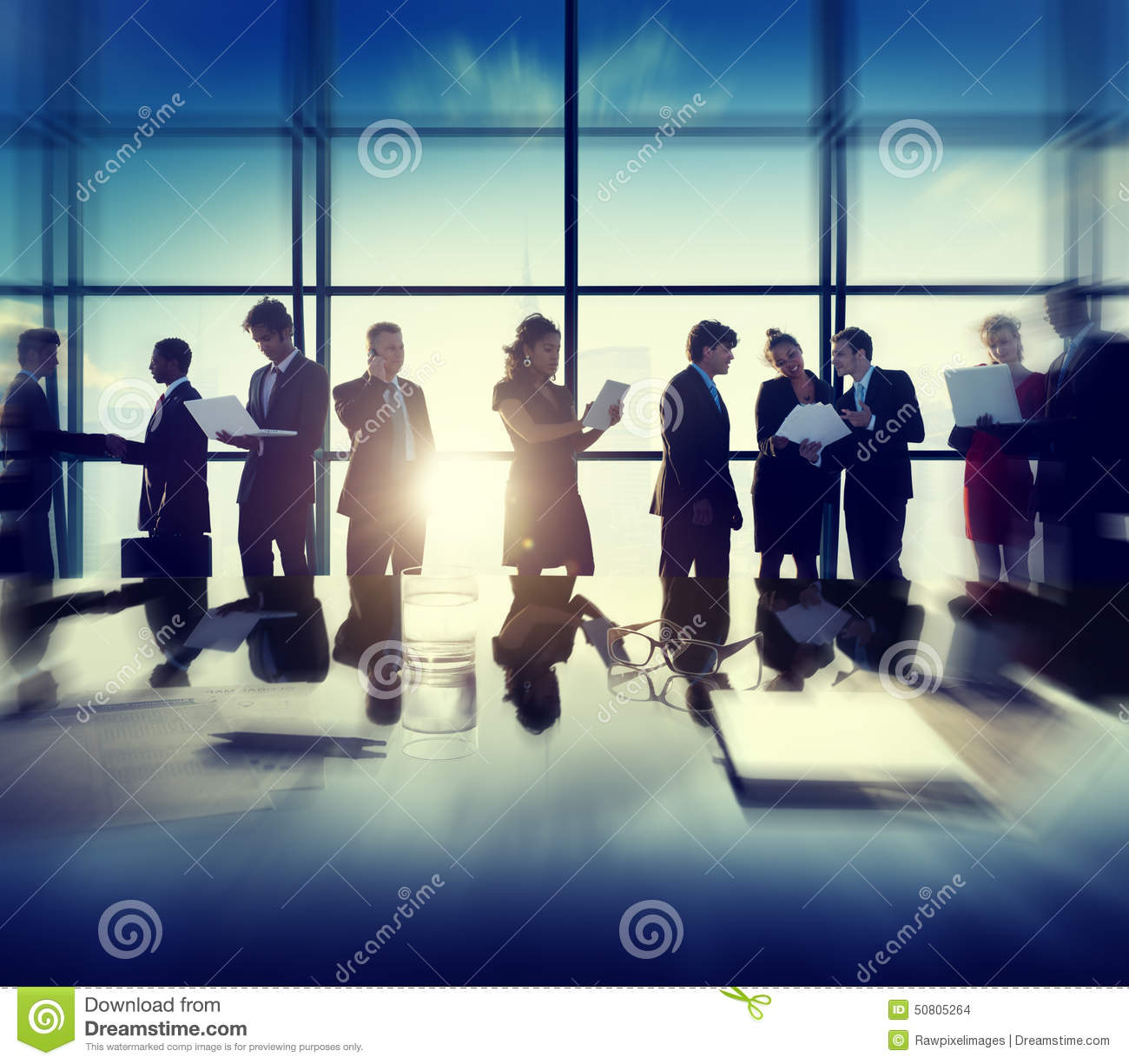 Business Corporate People Digital Devices Meeting Concept