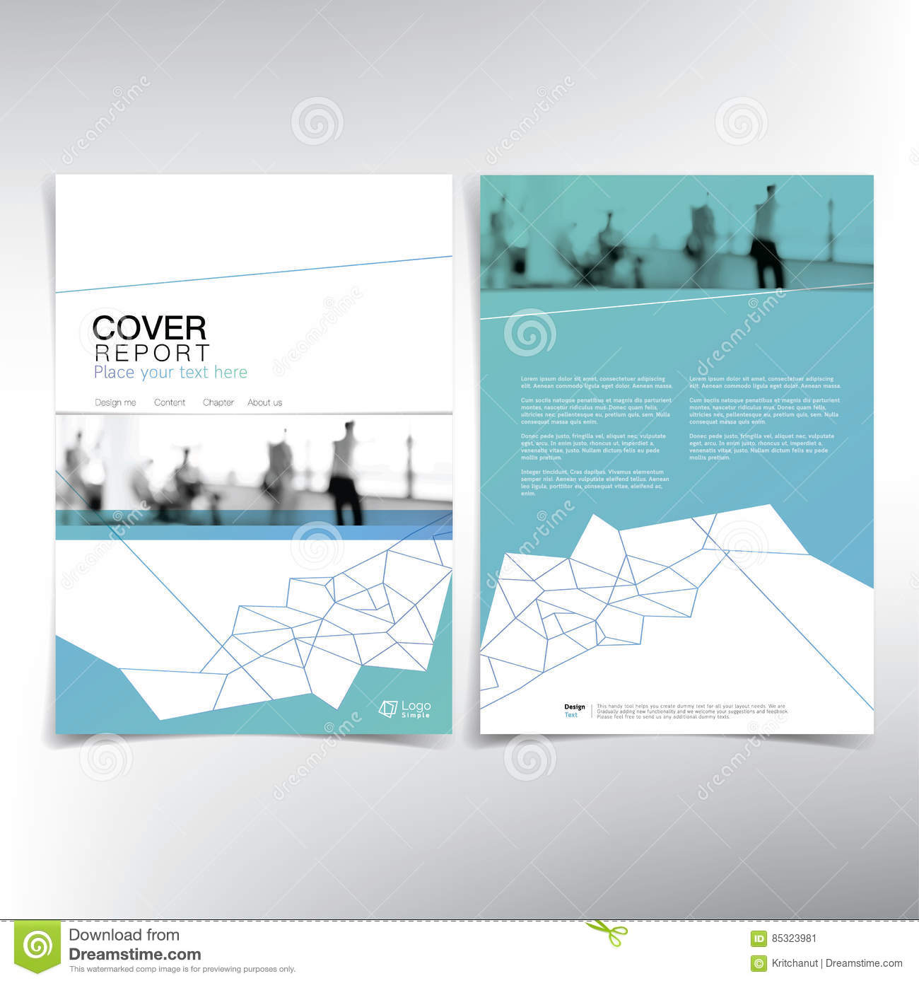 business cover page vector template stock vector image  business cover page vector template
