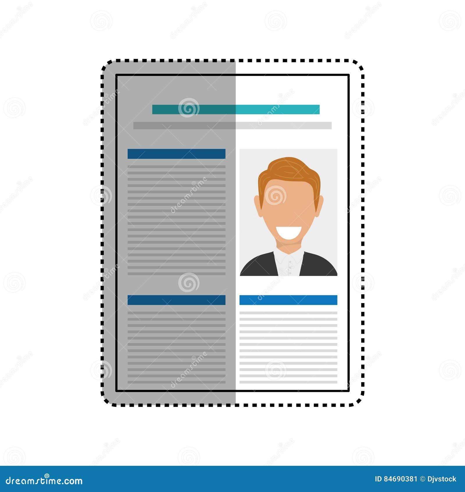 Business Curriculum Vitae Stock Illustration Illustration Of