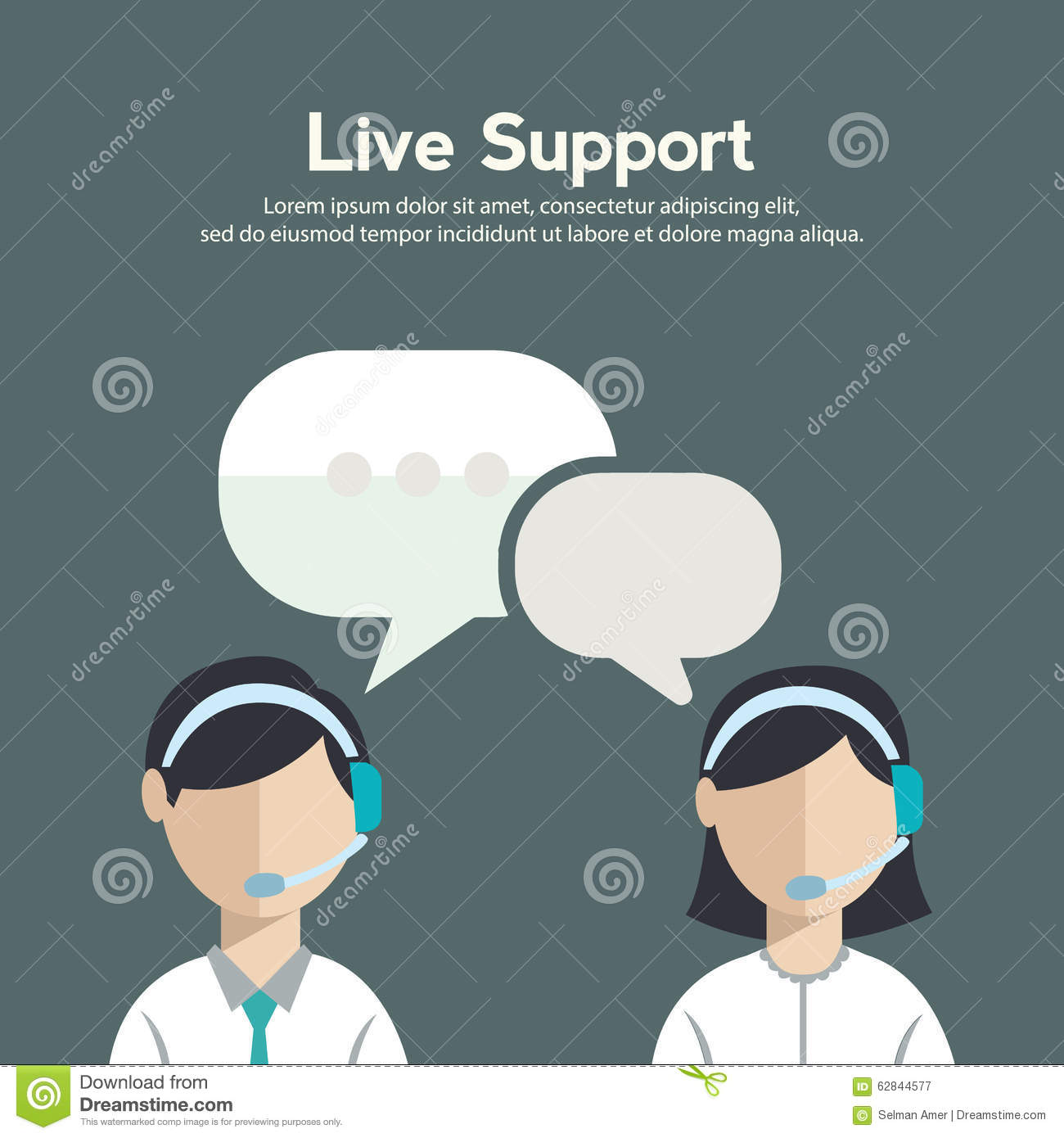Business Customer Care Service Concept Flat Icons Set Of