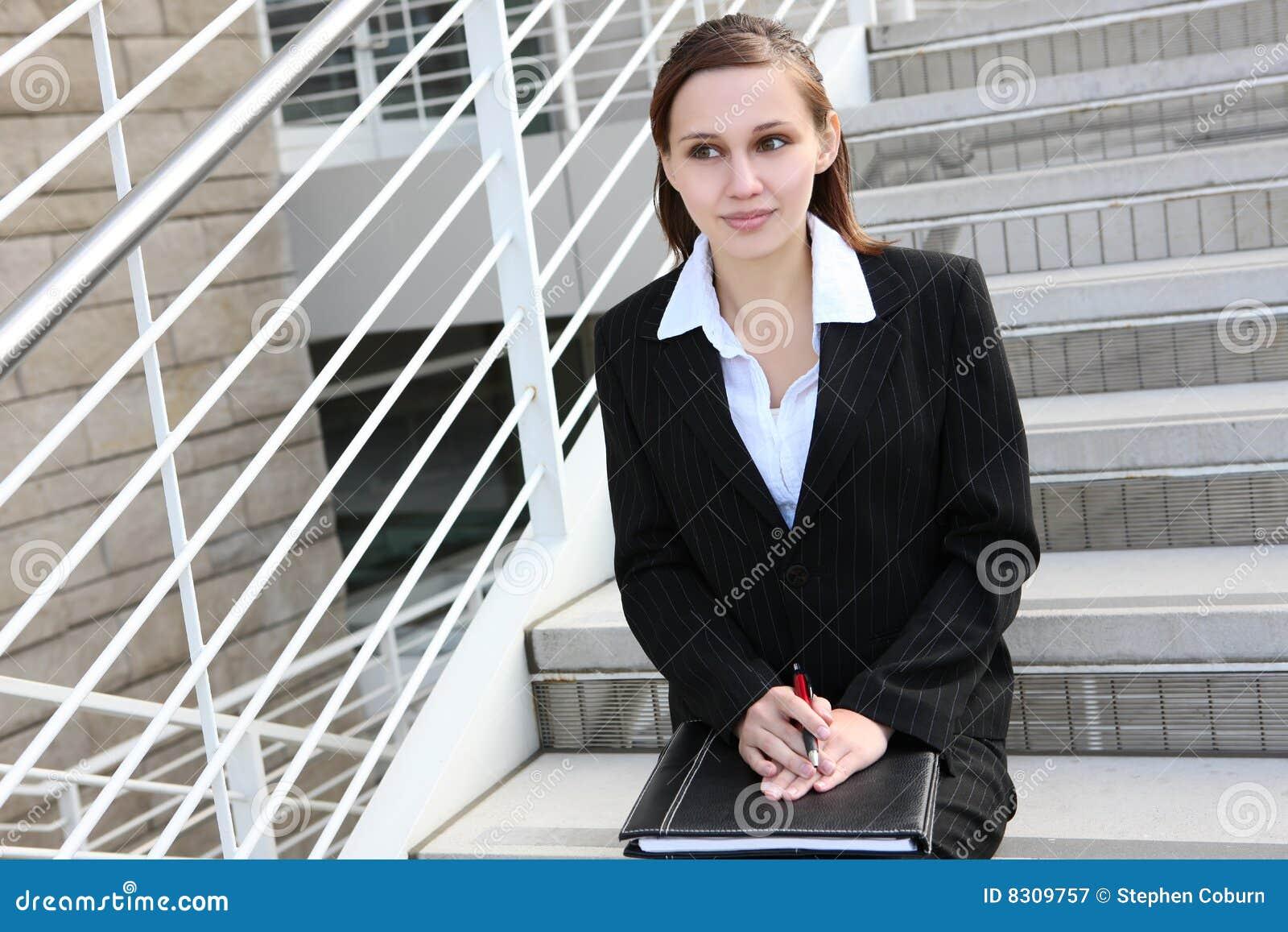 Business cute woman