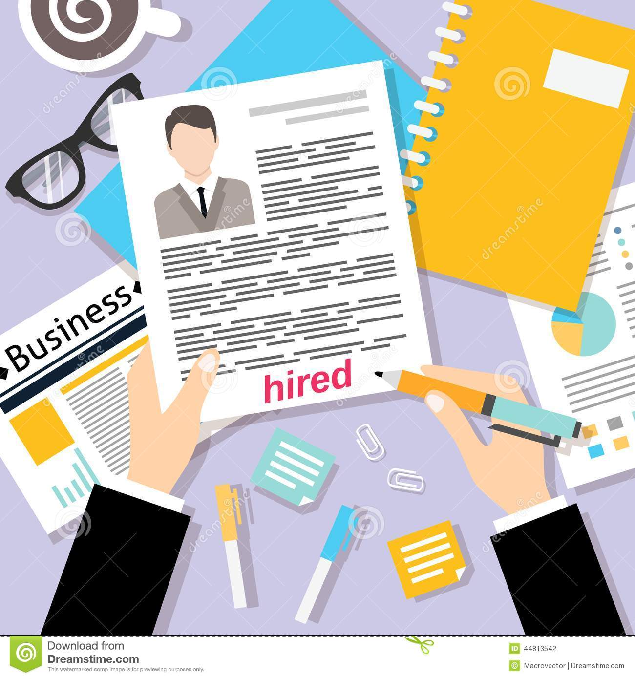 business cv background stock vector