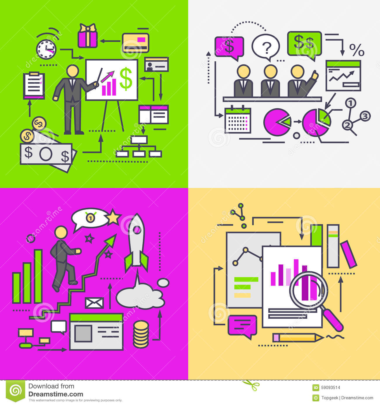 Business Data Analysis And Planning Startup Vector Image – Financial Data Analysis