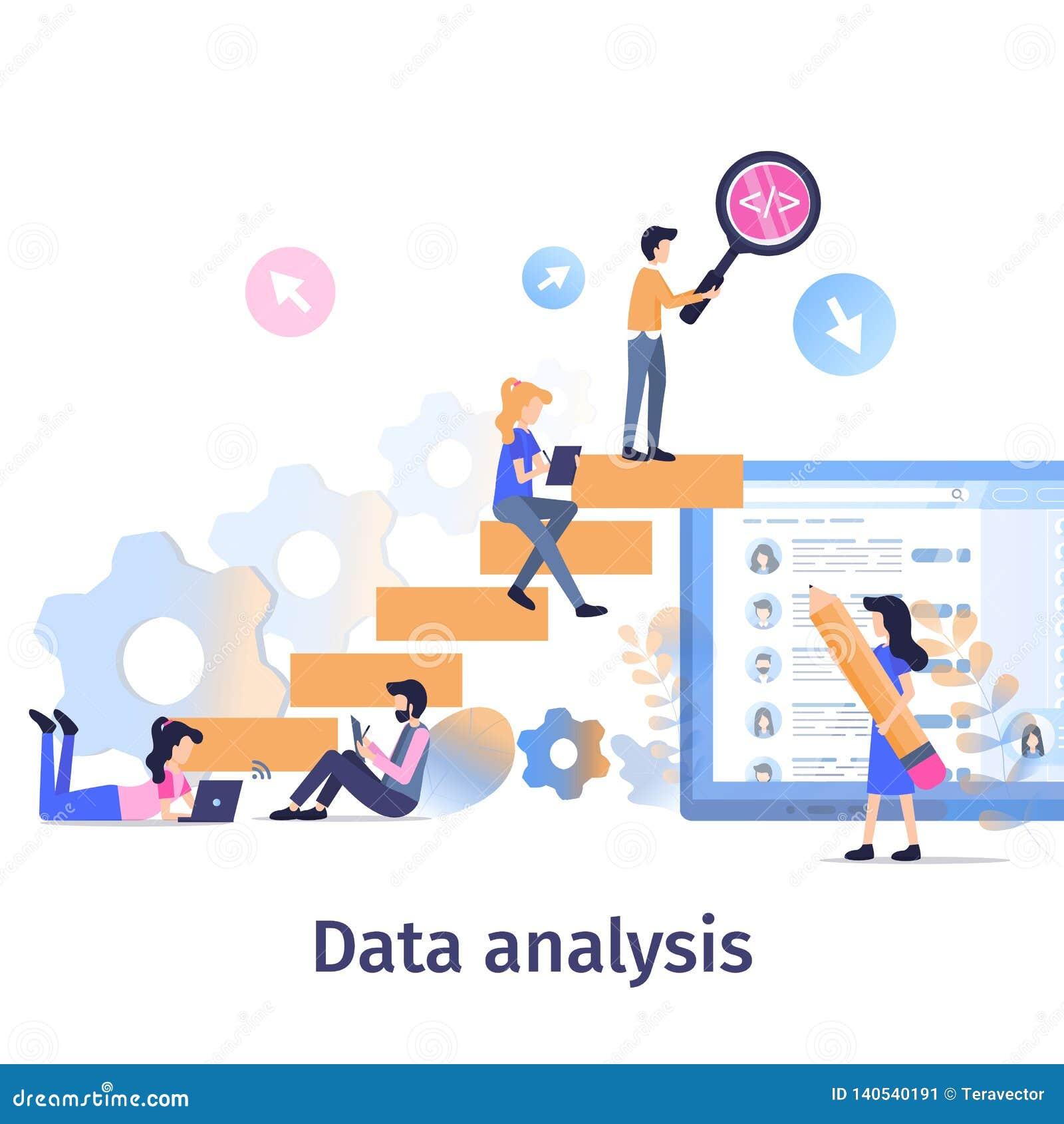 Business Data Analysis Teamwork Strategy Growth Stock Vector