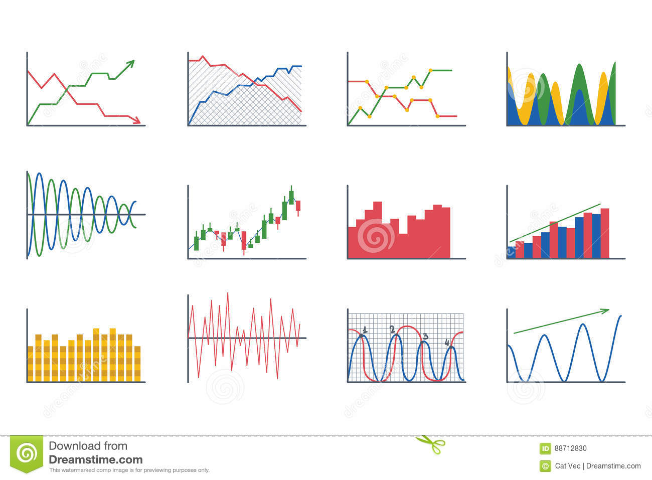 Business data graph analytics elements bar pie charts for Architecture graphique