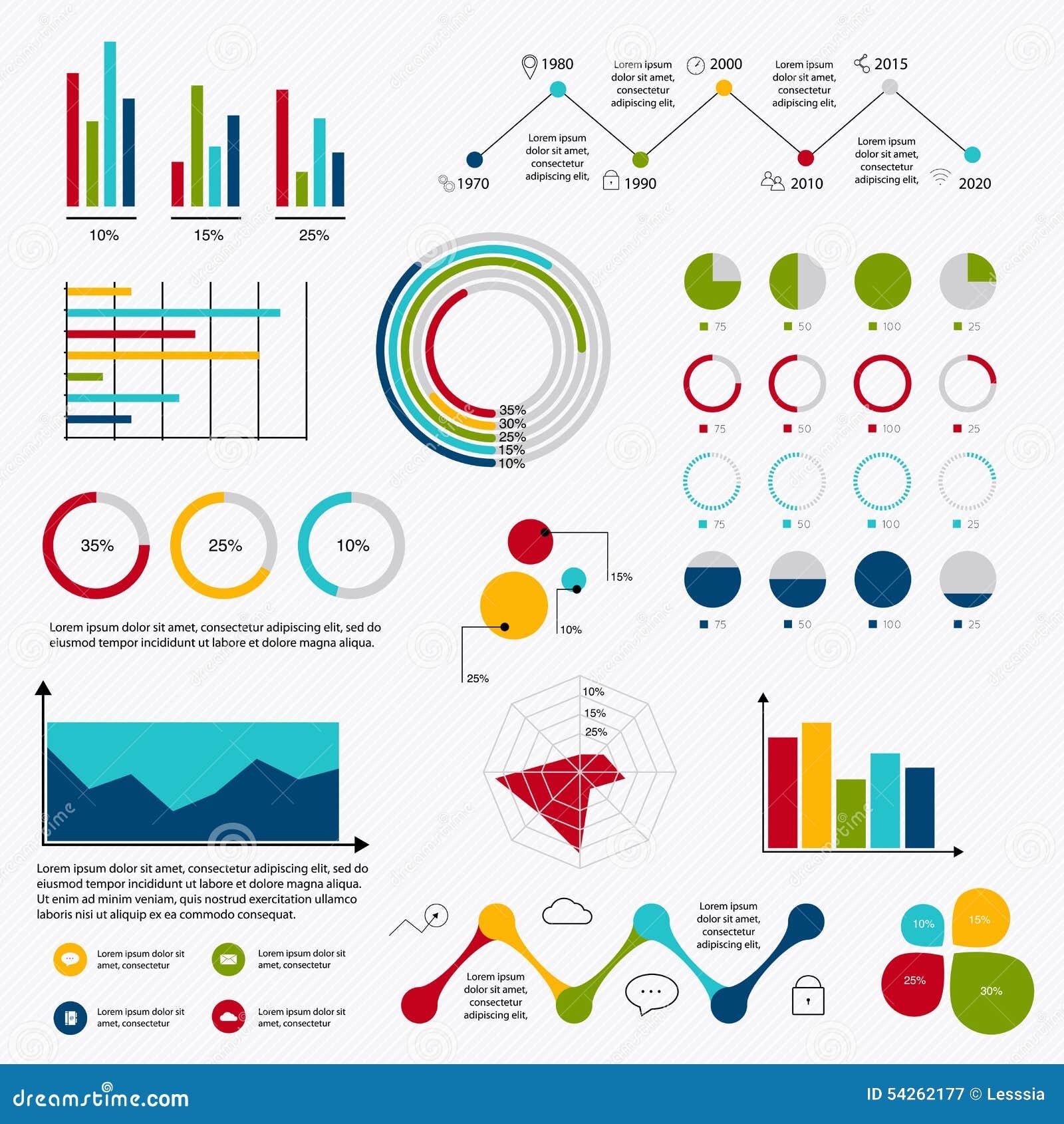 business data market elements dot bar pie charts diagrams and gr    business data market elements dot bar pie charts diagrams and gr royalty free stock photography