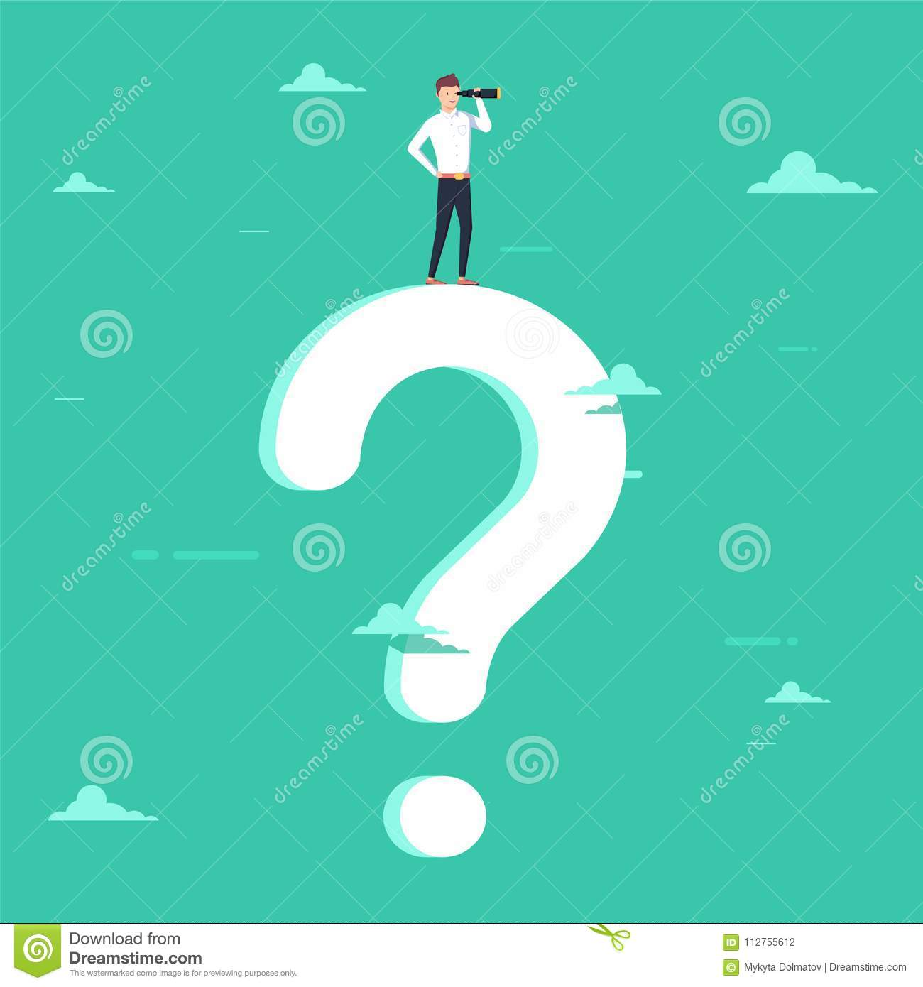 Business Decision Vector Concept With Businessman Visionary Standing