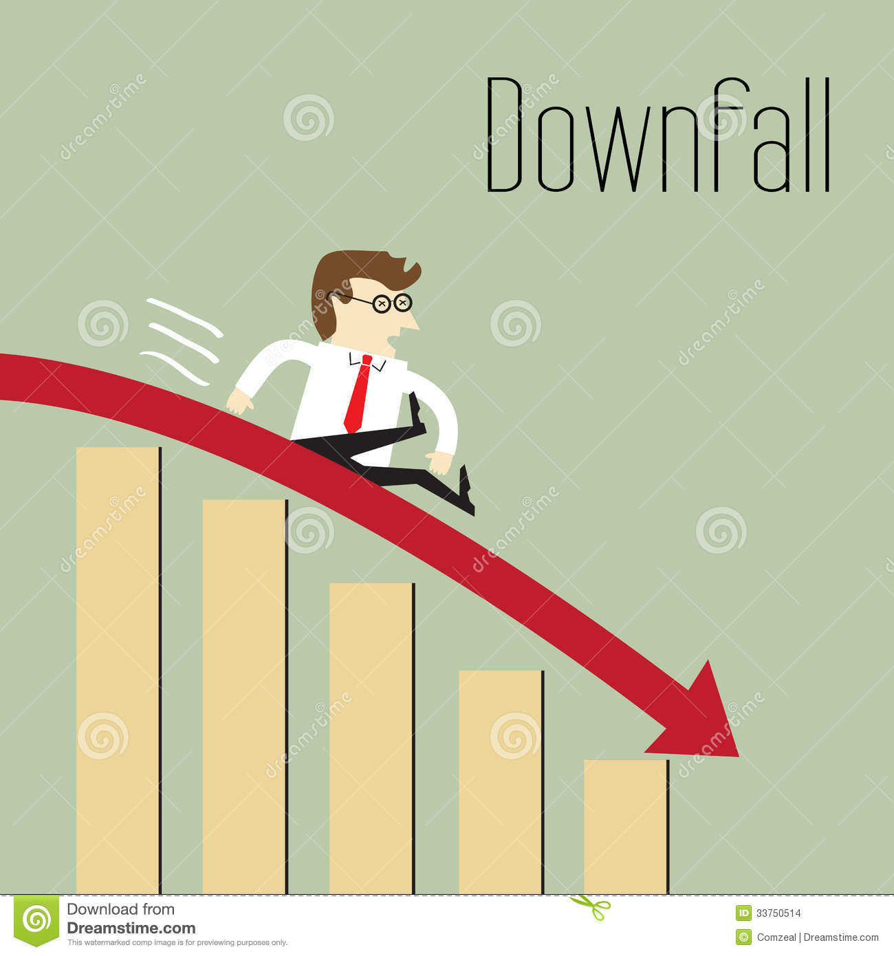 Business Decline Stock Images Image