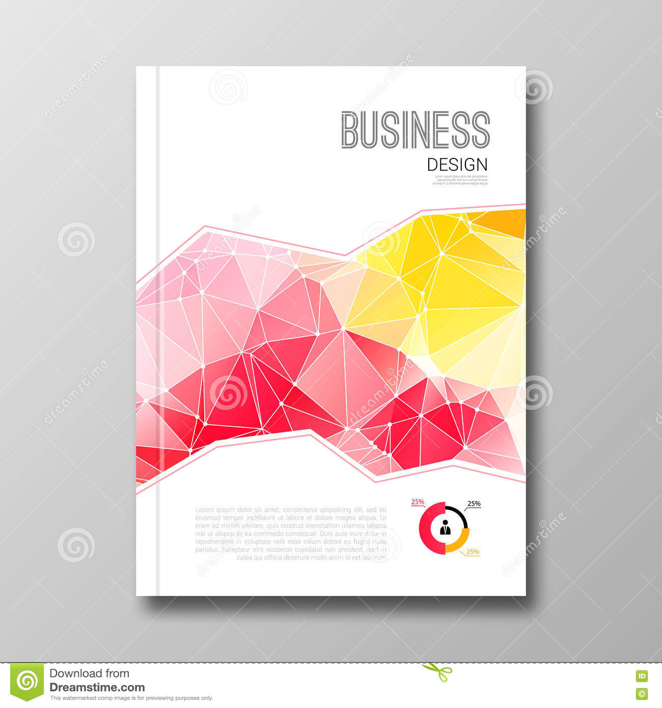 business design template cover brochure book flyer magazine layout