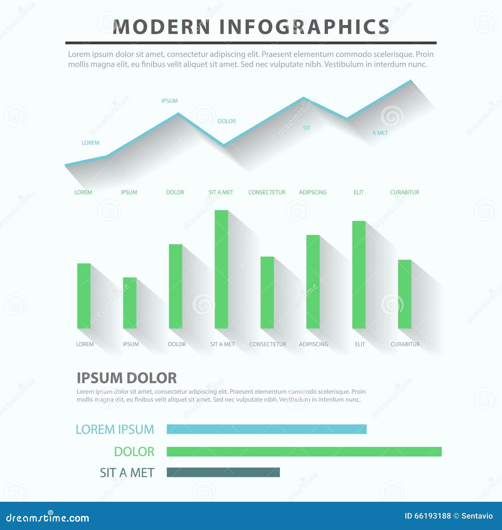 Business Diagram Chart Bar Graph Vector Infographic Template  Bar Chart Template