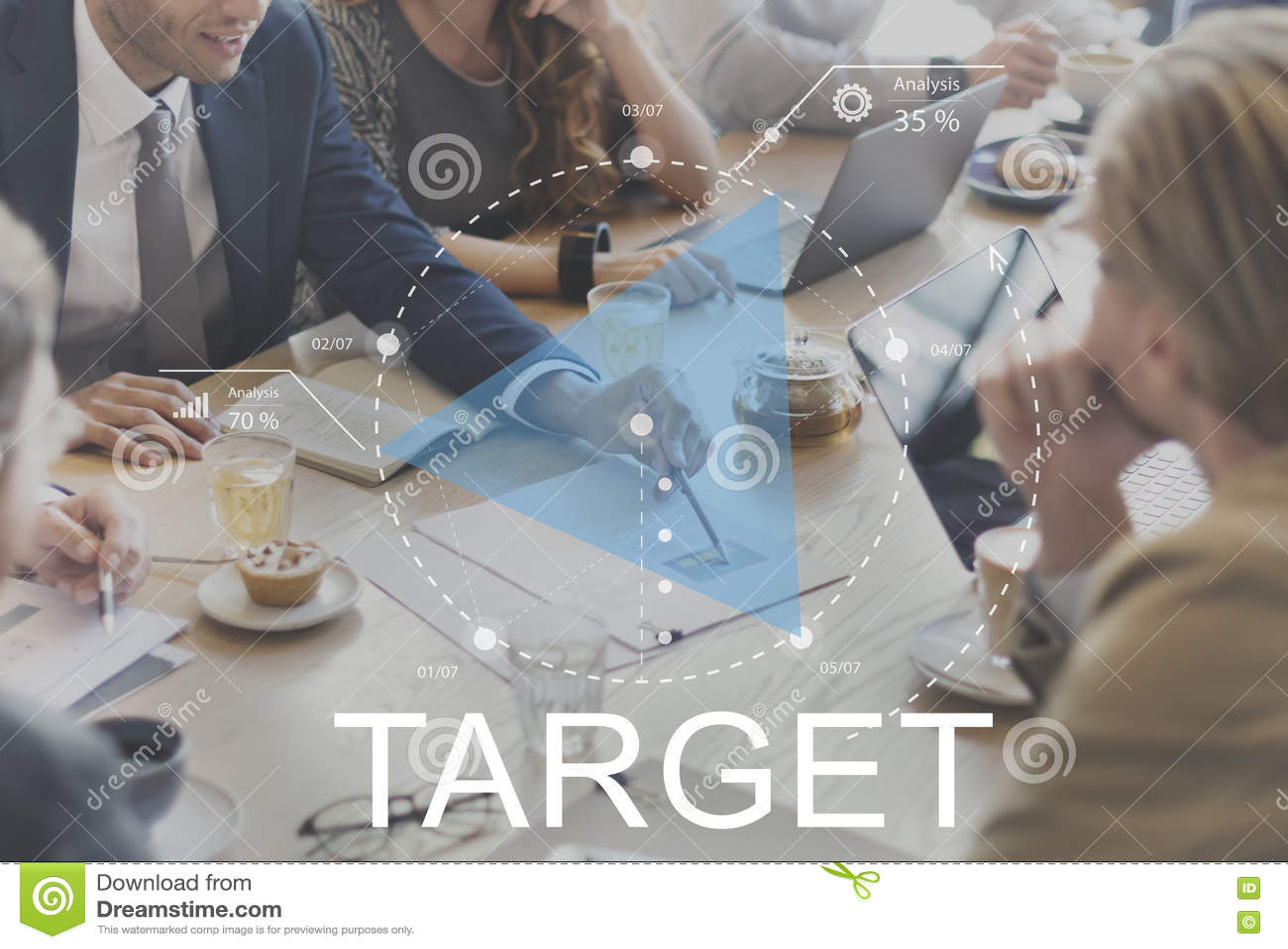 Business Discuss Target Goals Growth Concept