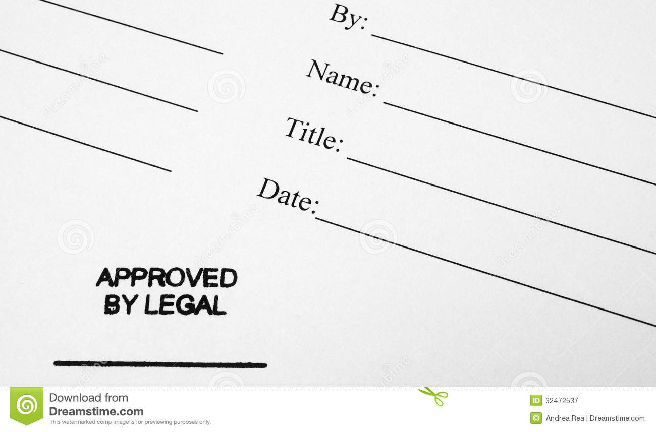 Business Document Approved By Legal Stock Image Image Of Approval - Legal documents for business