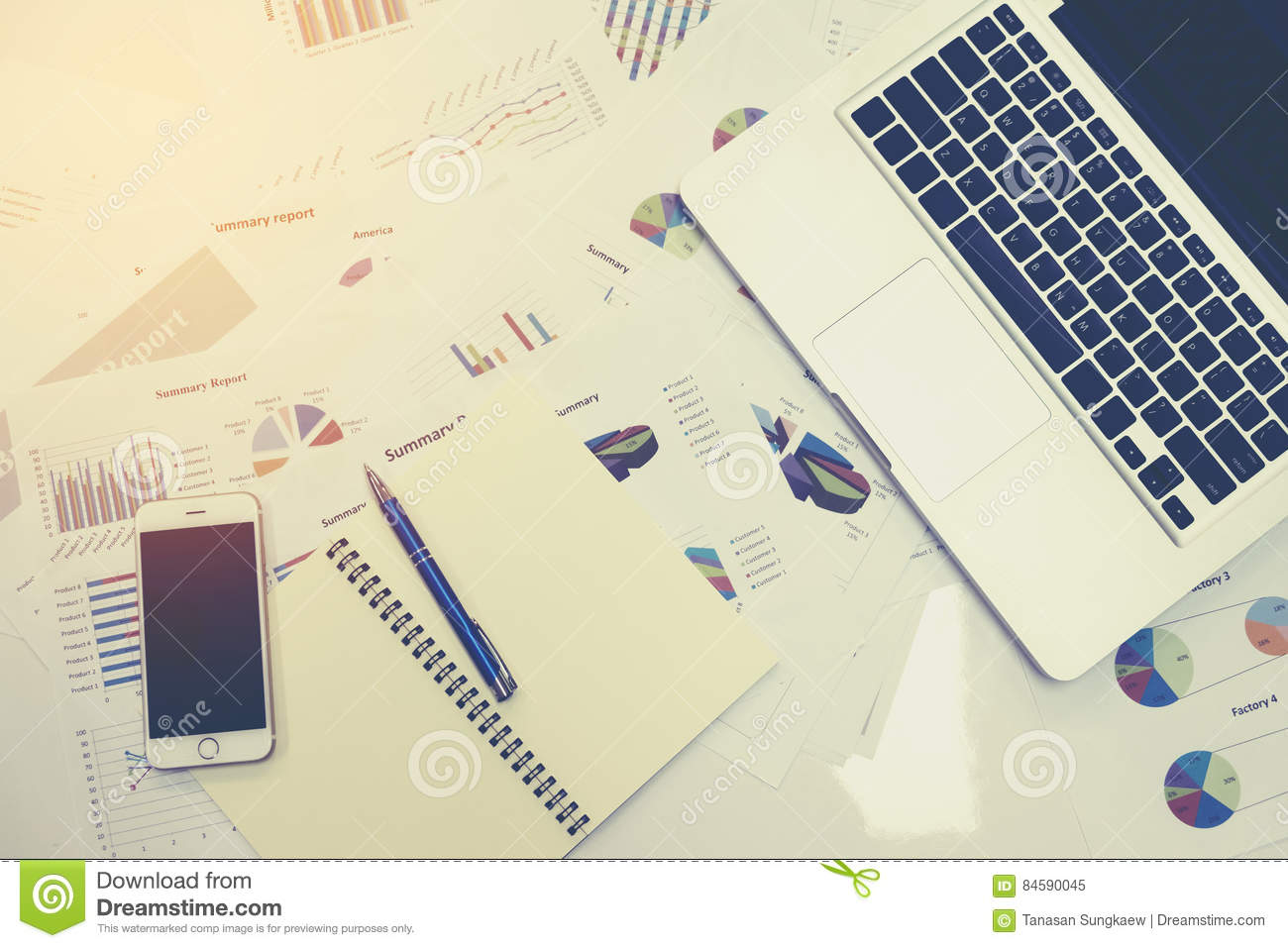 Business documents on office table with smart phone and digital download business documents on office table with smart phone and digital tablet and graph financial stock ccuart Image collections