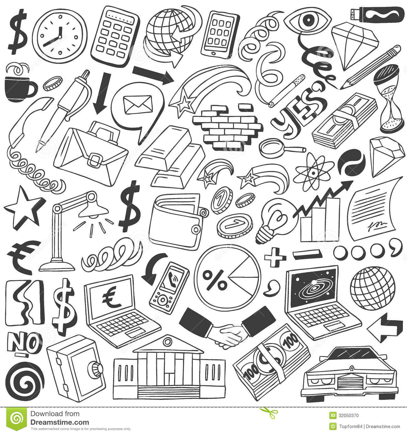 Business: Business Doodles Collection Stock Photo