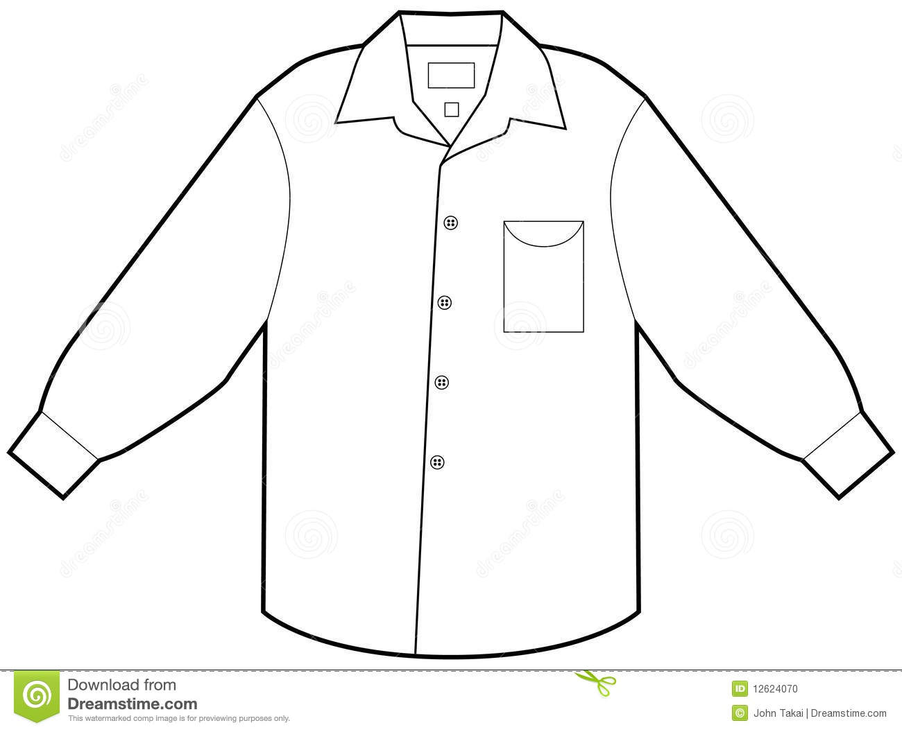 Business dress shirt isolated on a white background.