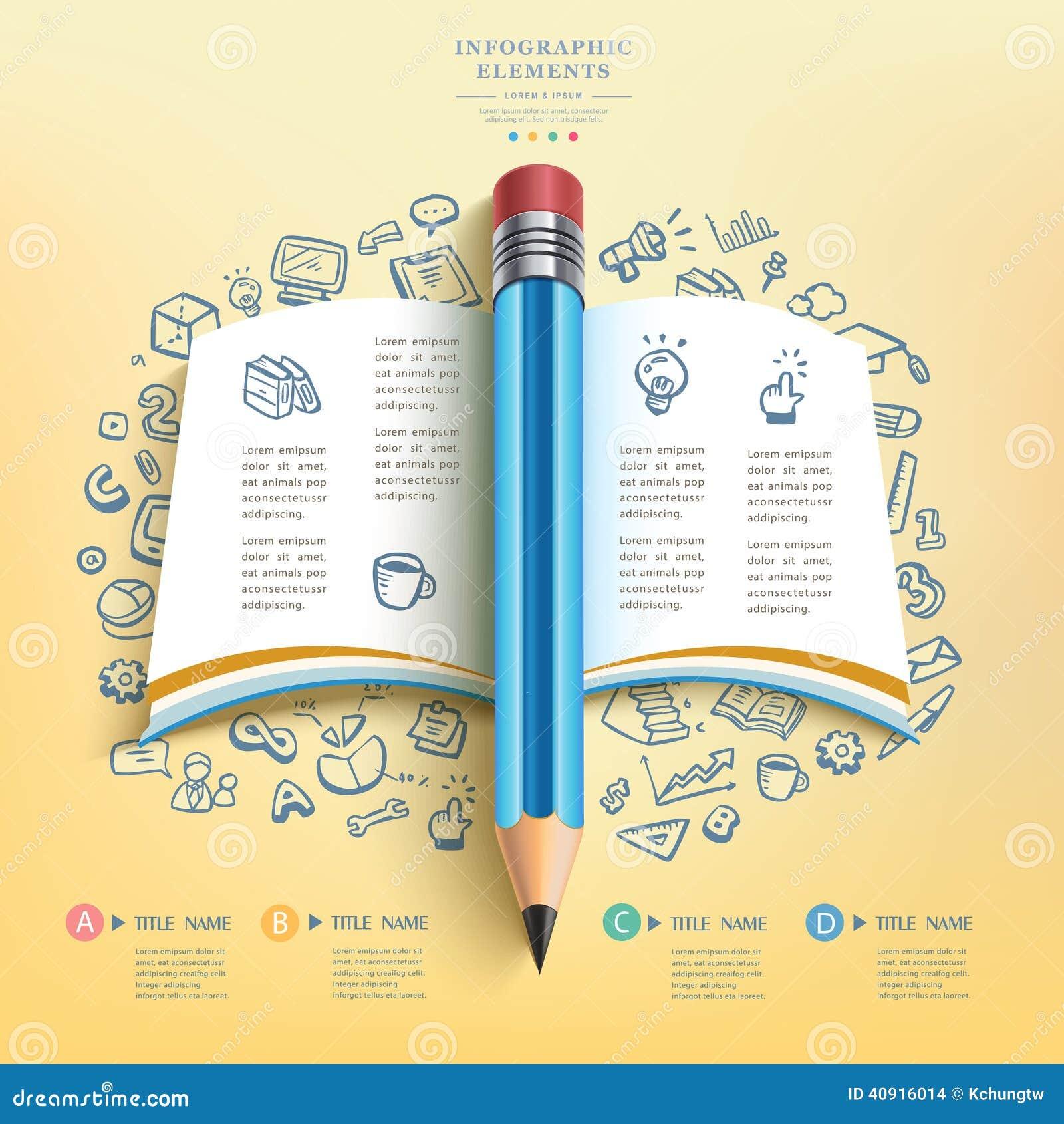 business education pencil infographics stock vector Teacher Clipar Teacher Teaching Clip Art