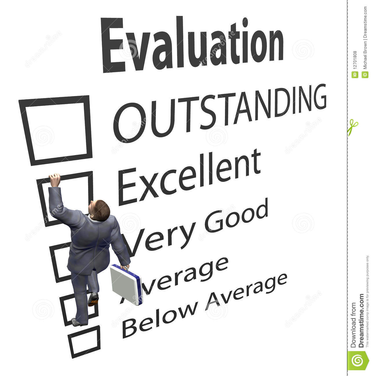 Employee Review | Business Employee Climbs Evaluation Form Stock Illustration