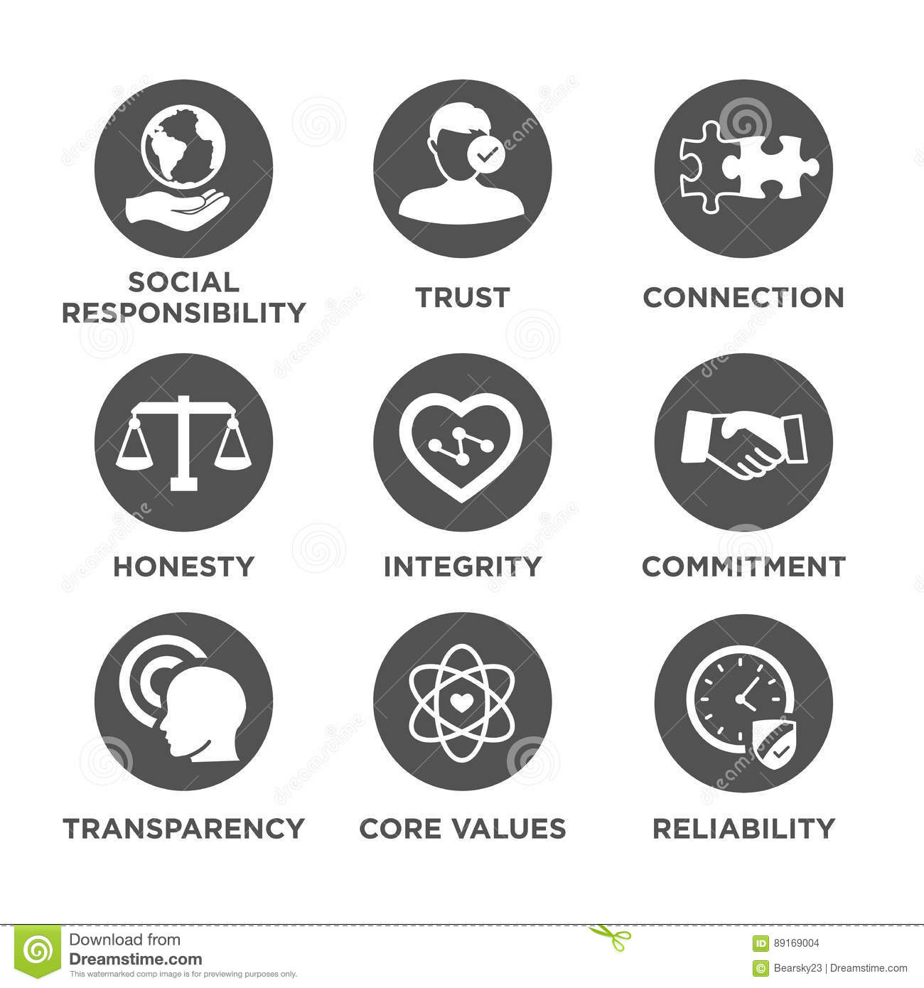 Business ethics solid icon set stock vector illustration of business ethics solid icon set biocorpaavc Image collections