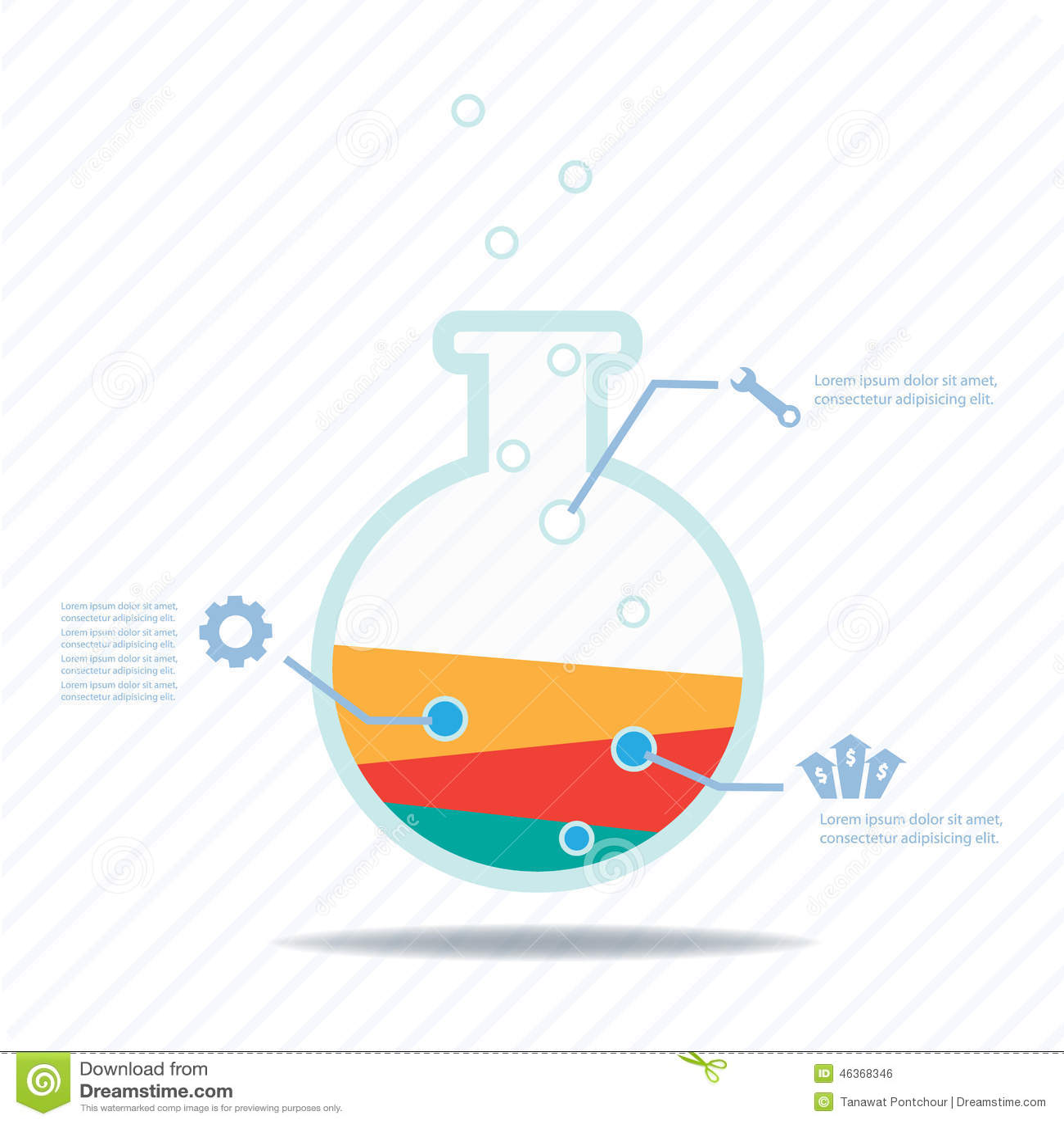 Diagram experimental design diagram template : Business Experiment, Colorful Vector Design Stock Vector ...