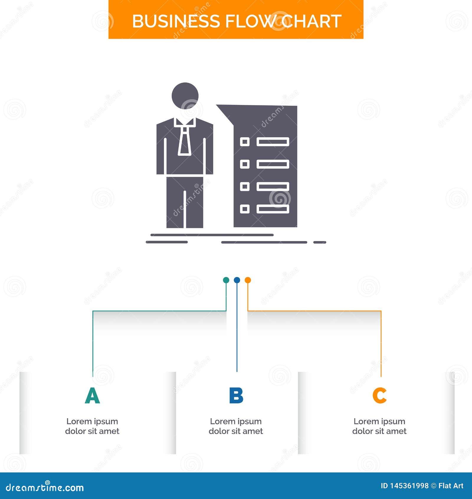 Business, Explanation, Graph, Meeting, Presentation Business Flow ...