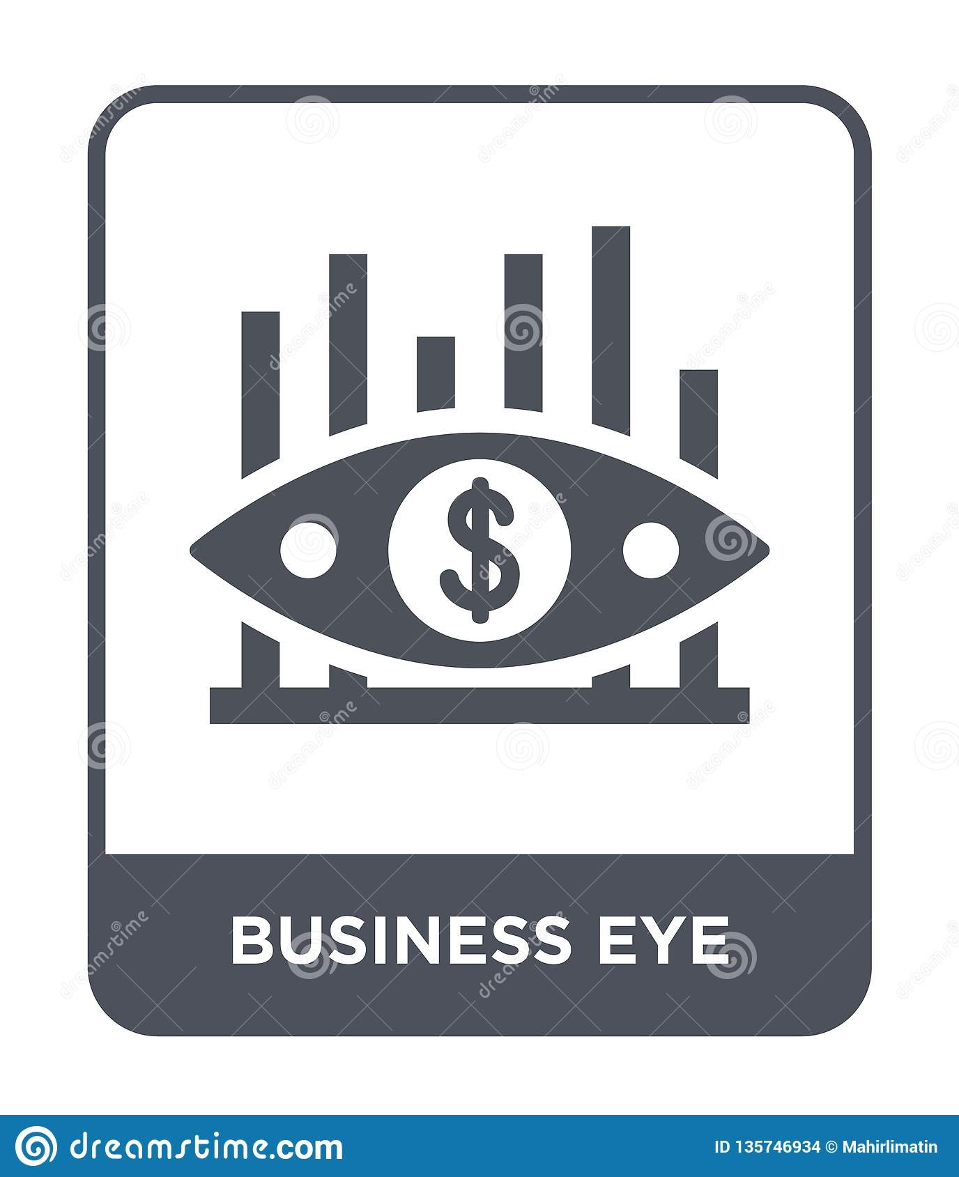 business eye icon in trendy design style. business eye icon isolated on white background. business eye vector icon simple and