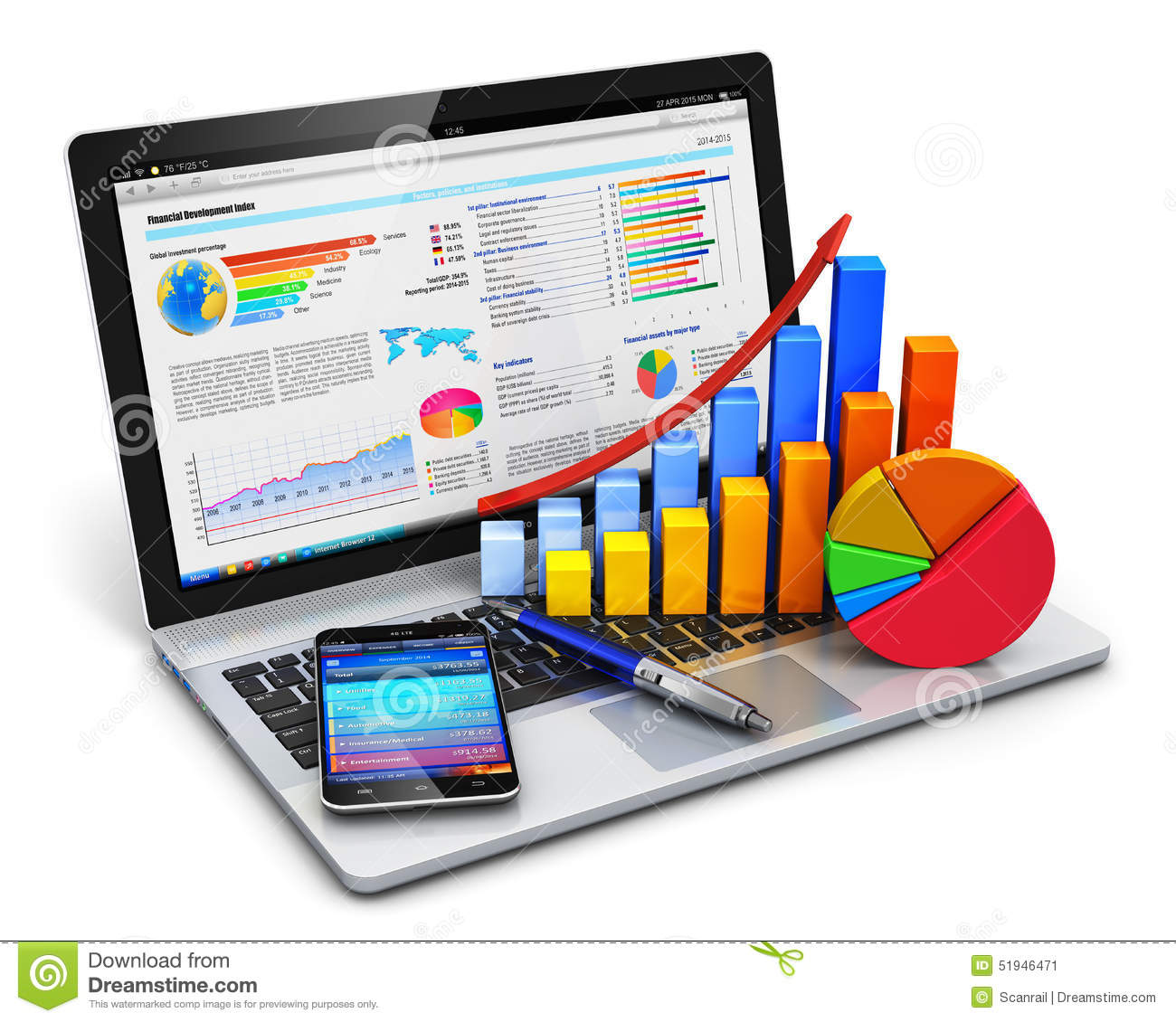 Business, Finance And Accounting Concept Stock Illustration - Image: 51946471